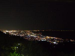 湘南平から見た平塚の夜景