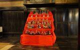「相模の家」に展示された6段のひな人形