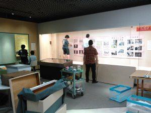 展示設営の様子